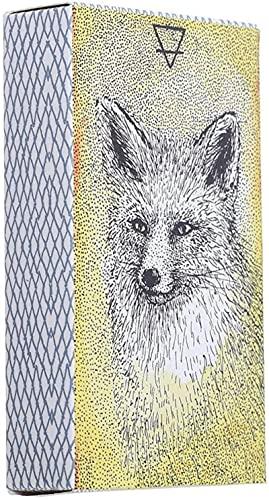 YQRX Animal Oracle Tarjetas, Tarjetas de 44 Cartas de Deck Oracle Se utilizan para adivinar y predecir el Futuro, Juegos de Cartas de Mesa adecuados para Fiestas
