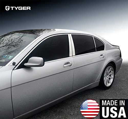 Made in USA! Works with 2002-2008 BMW 7 Series E65/E66 745/750/760 Stainless Steel Chrome Pillar Post Trim 6PC
