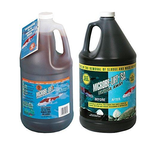 Microbe Lift PL 10PLG Gallons + Microbe-Lift Pond Sludge Away Gallon Pond Treatment Kit