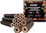 com-four 10 Kg Holz-Briketts aus Apfelholz, 100% natürliche Holz Grillkohle für Smoker-, Kugel- und Standgrills (10kg - Briketts aromatisiert)