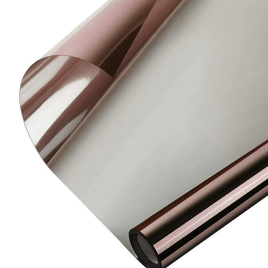 卑しい真向こう影響を受けやすいですAlligado ミラーウィンドウフィルム反射ウィンドウフィルム一方向ミラー効果昼間プライバシーステッカーガラスの色合い自己接着ソーラーコントロール断熱材ミラーウィンドウ熱制御フィルム