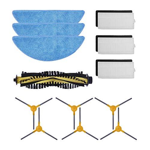 HALIEVE Filter Bürste Wischtuch Ersatzteile Zubehör Set für Tesvor M1 Tesvor X500 Tesvor X500 Pro Staubsauger Roboter (13 Stück)