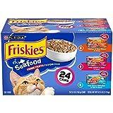 Purina Friskies Gravy Wet Cat Food Variety Pack, Seafood Prime Filets...