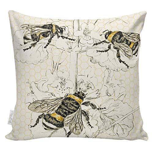 Moderne boerderij imker kussen bijenkussen botanische bijenkorf gooien kussensloop boerderij kussen jute katoen BE0018