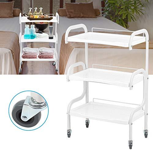Serveerwagen voor salon, rolstoel, 3 niveaus, mooie salonwagen voor het haar, met Omnidirectionele wielen