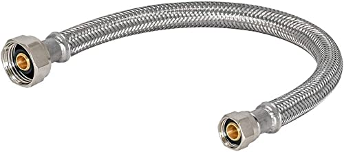 wholesale Eastman online sale 48030 9-Inch Length Flexible Faucet Connector, Braided Stainless Steel Supply Hose Line, 1/2-inch FIP x 3/8-inch online sale Compression Inlet online sale