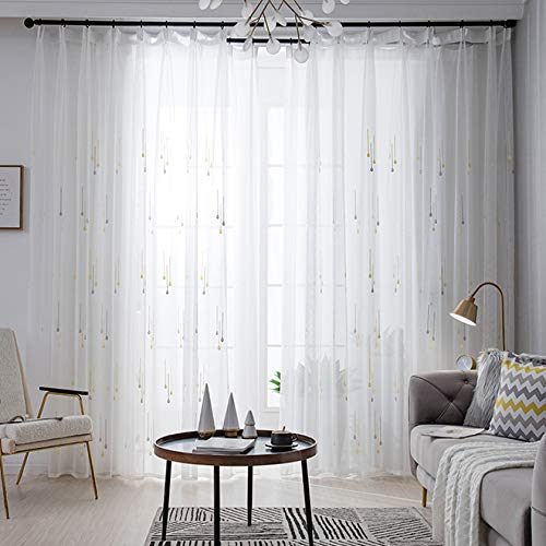 Vorhangdekoration Raumhohe Fenster Balkontrennwand Schlafzimmer Einfaches Lichtdurchlässiges Atmungsaktives Weißes Gerstenkorngarn