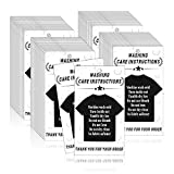 Heatoe 200 Pcs T-Shirt Washing Care Instructions Cards, Shirt Clothing Package Insert Care Instructions Cards, Graphic and Text Customer Direction Cards