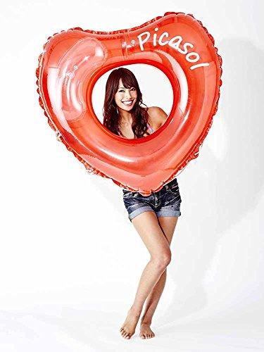 ドウシシャ浮き輪変形ハートレッド120cm