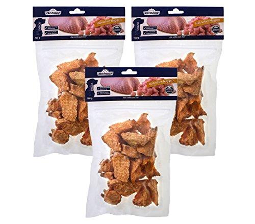 Dehner Premium Hundesnack, Hähnchen Nuggets, 3 x 100 g (300 g)