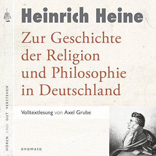 Zur Geschichte der Religion und Philosophie in Deutschland Titelbild