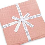 Super Cozy 100% Bamboo Fiber Blanket. Ultra Softness and smothness Like Silk. Drop Well with Heavy Weight. Much Better Than Normal Blankets. Sweet for Anyone You Love (King, Dusty Coral)