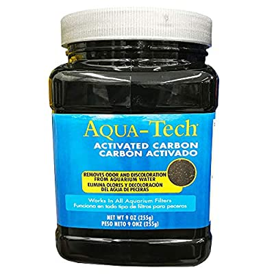 Aqua-Tech Activated Carbon Works with All Aquarium Water Filters Removes Odor 255g
