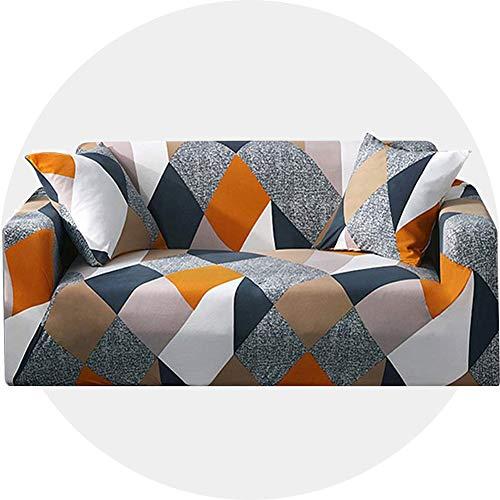 Carvapet Funda de Sofá Super Elástica De 4 Plazas Adaptable Fundas Cubre, Geometría Multicolor