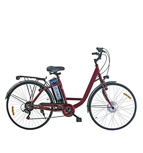 GIRARDENGO Bicicletta Elettrica Masciaghi pedalata assistita Linea Eco, Motore 250W, 26″, 25 km/h (Rosso)