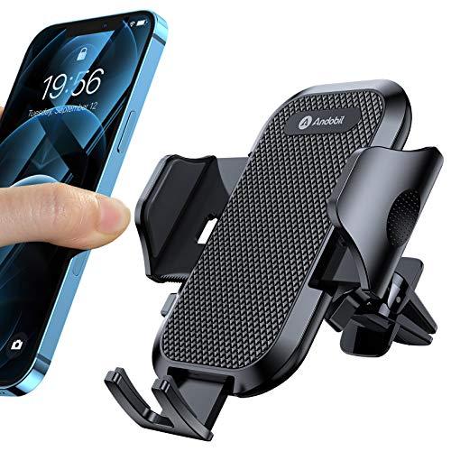 andobil Handyhalterung Auto Upgrade Handyhalter fürs Auto mit 2 Lüftungsclips Lüftung Auto Handyhalterung Universale kfz Handy Halterung für iPhone SE 2020 11 Samsung S20 S10 Huawei Xiaomi LG usw