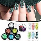 WXGY Nagelverlängerung, Nagel-Faser-Klebe-Set, für Damen, langlebig, glänzender Glitzer, Maniküre, Kunst für Damen