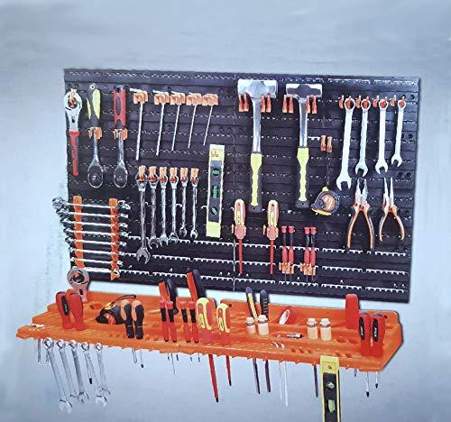 3 Level 52 Pcs Wall Mounted Garage Tool Organiser Pegboard Shelf Tool Rack by Crystals®