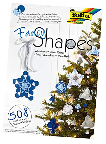 folia 25039 - Fancy - Shapes - Set Winterklang - ideal als Dekoration in Bodenvasen, Dekoschalen oder als Kranz