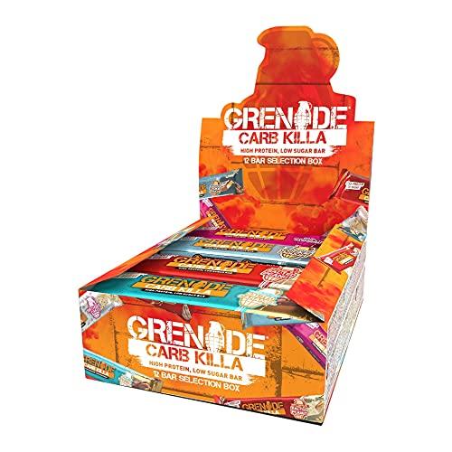 Grenade Carb Killa Hochproteinriegel, 12 x 60g - Selection Box