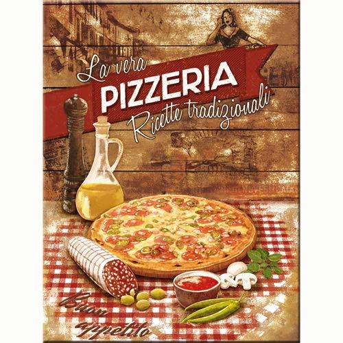 Nostalgic-Art 14289 Home país y Cierre magnético pizzería La Vera 8 x 6 cm
