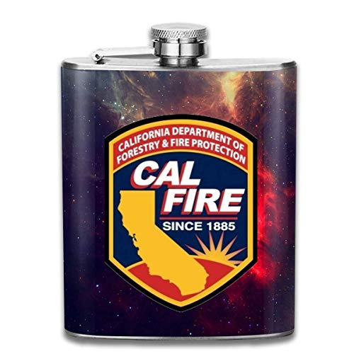 petaca Cal Fire California Strong Hip Flask Pocket Stainless