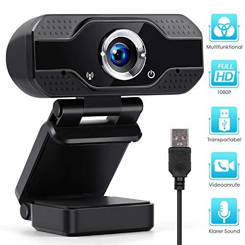 KinCam HD 1080P-Webcam mit integriertem Mikrofon, Autofokus USB-Streaming-PC Computer Webkamera mit weitem Blickwinkel für Videoanrufe Aufzeichnungskonferenzen