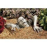 hfior Gartenstatuen, Halloween Kriechender Zombie Gartendeko Horror Gartenfiguren Für Garten Deko Haunted House Requisiten Liefert Dekoration