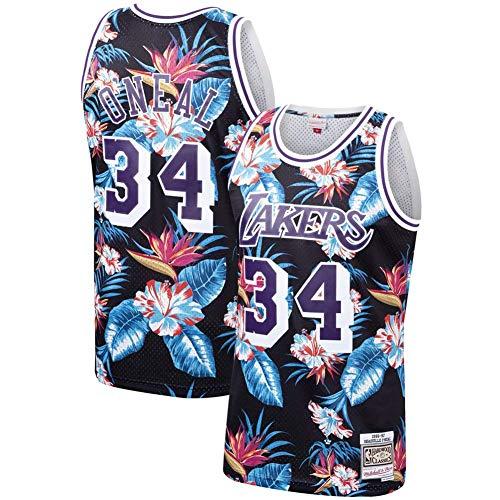 Basketball Jersey Herren Los Angeles Lakers 34# Shaquille O'Neal Komfortable Sportbekleidung S-XXL Allzweck XL