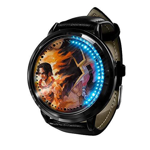 Relojes Luffy Anime de una Pieza, Reloj LED, Resistente al Agua, Pantalla táctil Digital, Reloj de luz, Reloj de Pulsera Unisex, Accesorios para Cosplay, Regalo nuevo-A012