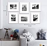 Art Street Decorative Set of 6 Individual Wall Photo Frame (8 X 10 Picture Size matted to 6 x 8) - White