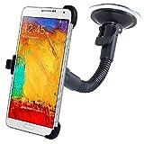 REY Soporte Coche con Ventosa de Gel para Samsung Galaxy Note 3