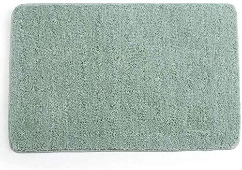 Alfombra baño Microfibra Alfombras de baño Antideslizante Alfombra de baño Cómoda Alfombrilla baño Esponjosa Alfombrilla de baño Absorbente Alfombras para baños Lavable a máquina,Verde,30 x 50 cm