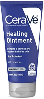CeraVe Healing Ointment 5 oz with Hyaluronic Acid and Ceramides for Protecting and Soothing Cracked, Chafed Skin