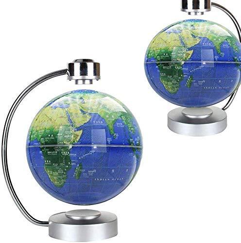 LULUTING Magnetschwebebahn Globus 360 Grad drehbare Schwimmweltkarte mit LED-Schreibtisch-Display Stand