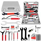 Odoland Bike Repair Tool Kits, 44 Piece Bicycle Tool Kit for Mountain/Road Bicycle Repairs, Multifunction Tool and Wrench, Maintenance Tool Set with Storage Case