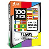 100 PICS Flags of The World Travel Game - Geography Flash Card Quiz | Pocket Puzzles for Kids and Adults