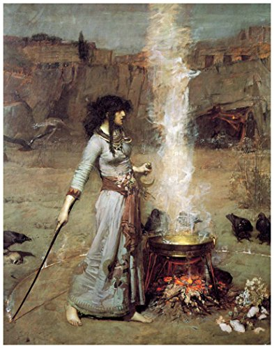 Art Print: THE WITCH - MAGIC CIRCLE by John Williams Waterhouse (8