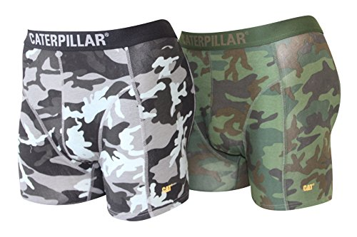 Caterpillar Herren Boxershort/Retroshort, (L/50/6, 2 Hosen Camouflage)