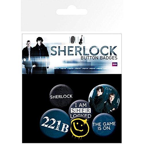 """Gemischtes Button-Set """"Sherlock"""""""