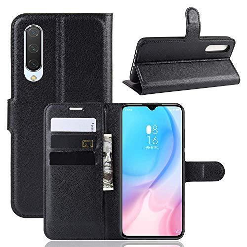 Capa Capinha Carteira 360 Para Xiaomi Mi 9 Lite Tela De 6.39Polegadas Case Couro Flip Wallet - Danet (Preto)
