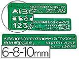 Liderpapel - 150024 Normografo scolastico Set di 3 pezzi