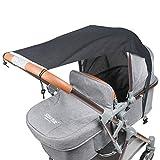 Universal Sonnensegel Sonnenschutz für Kinderwagen/Babywanne wasserdicht verstellbar UV Schutz Beschichtung (UPF50+)