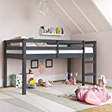 Dorel Living Milton Junior Twin Loft Bed, Gray