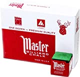 Master Billiard/Pool Cue Chalk Box, 12 Cubes, Green