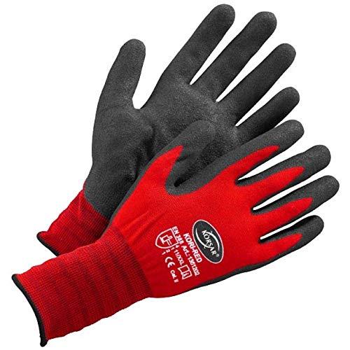 Arbeitshandschuhe - 6 Paar Größe 10 / XL Arbeitsschutz KORSAR® Kori-Red schwarz / rot
