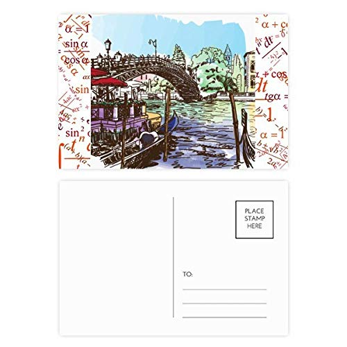 Postkarten-Set, Italien, Venedig, Landmark-Aquarell, 20 Stück