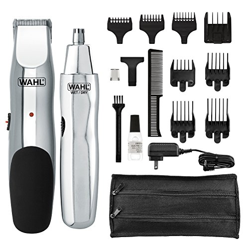 Wahl 5622 Groomsman Rechargeable Beard, Mustache, Hair & Nose Hair Trimmer for Detailing & Grooming