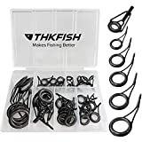 thkfish Rod Repair Kit Rod Tip Repair Kit Ceramics Tips Stainless Steel Carbon Spinning Rod Guides...