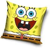 Spongebob Schwammkopf - Kissen - Spongebob - Logo - Gelb - 40 x 40 cm